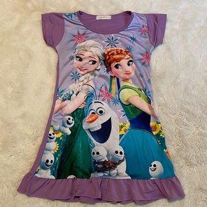 3/$12 Disney Frozen Anna and Elsa Olaf Pajama Dress Nightgown size 4T